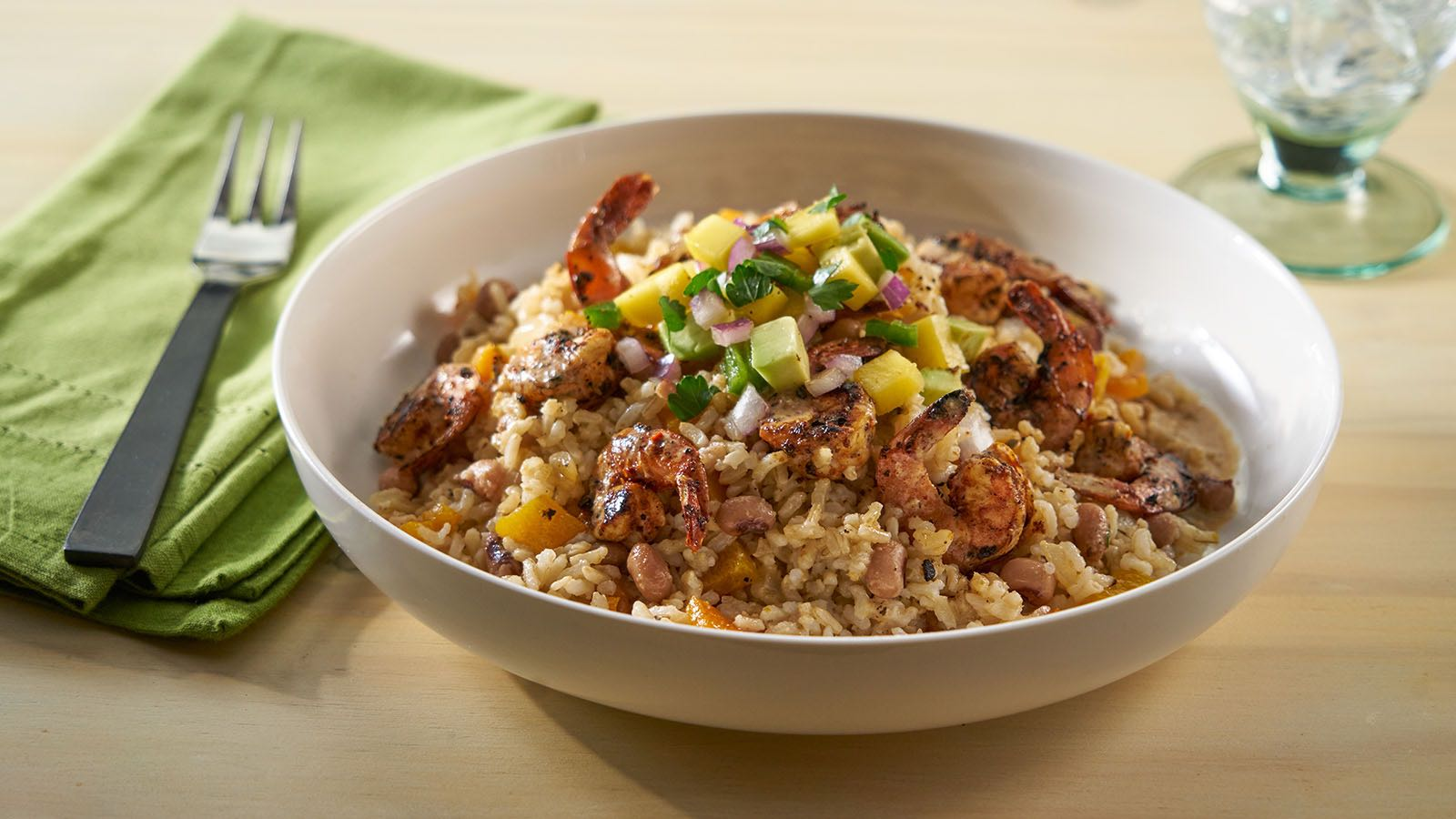 Carribean Shrimp and Rice Side