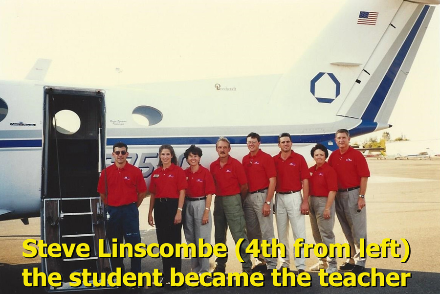Steve Linscombe (4th from left) the student became the teacher.